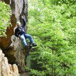 Abseilen steengroeve Bad Bentheim