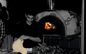 Italiaanse Pizza op de scooter