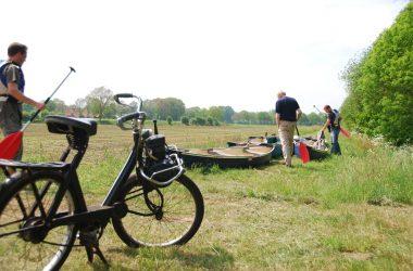 Solex rijden in Twente en Kanovaren op de Dinkel