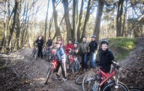 Stoer kinderfeestje: Mountainbike tocht