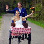 Bakfiets huren bruiloft antiek